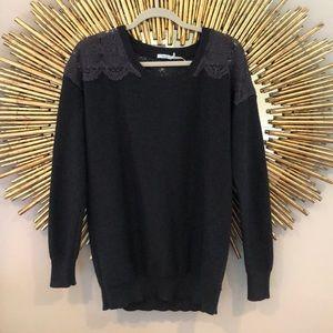 Kimchi Blue Grey Lace Sweater